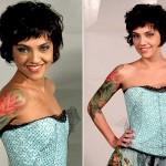 Letícia Persiles possui tatuagem meia manga (Foto: divulgação)