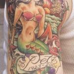 Tatuagem meia manga - Sereia (Foto: divulgação)
