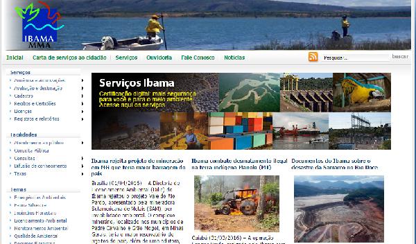 Serviços online IBAMA (Foto: Divulgação IBAMA)