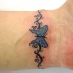 Tatuagem de borboleta no pulso (Foto: divulgação)