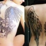 Tatuagem de anjo, masculina, nas costas (Foto: divulgação)