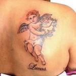 Tatuagem de anjo com nome (Foto: divulgação)