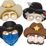 Distribua máscaras dos personagens de faroeste. (Foto: Divulgação)
