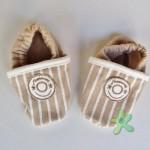 Sapatinho em tecido bem macio, ideal para os bebês mais novos.