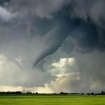 Tornado em plena evolução (Foto: divulgação)