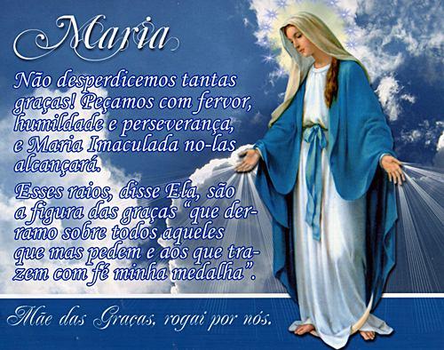 Maria, não desperdicemos tantas graças (Foto: divulgação)