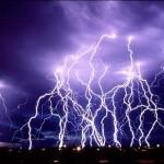 Tempestade de raios sobre a cidade (Foto: divulgação)