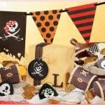 Caveiras aparecem na decoração da festa Pirata. (Foto:Divulgação)