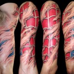 Tatuagem no braço em 3D (Foto: divulgação)