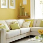 Inclua uma parede com cor diferente na decoração. (Foto:Divulgação)