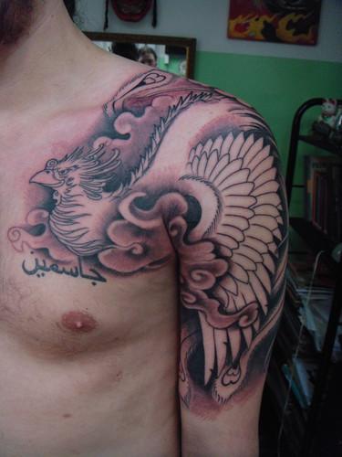 Tatuagem fênix oriental (Foto: divulgação)