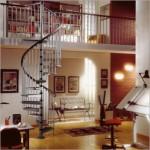 A escada caracol valoriza o desenho espiral. (Foto:Divulgação)
