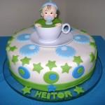 Bolo para chá de bebê personalizado (Foto: divulgação)