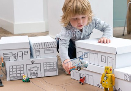 As caixas podem se transformar em brinquedos (Foto: Divulgação)