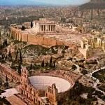 Acrópole de Atenas, onde se destaca várias construções em ruínas (Foto: divulgação)