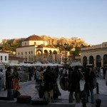 Praça próxima a Acrópole (Foto: divulgação)