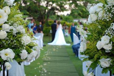 Charme do casamento ao ar livre. (foto:Divulgação)