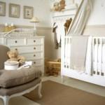 Móveis provençais na decoração do quarto de bebê. (Foto:Divulgação)
