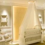 Visual clássico no quarto do bebê. (Foto:Divulgação)