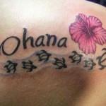 Tatuagens escritas: fotos