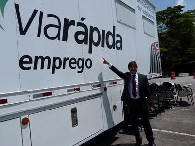 Unidade móvel do Via Rápida (Foto: Divulgação)
