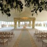 Espaço decorado para a cerimônia. (Foto:Divulgação)