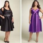 Os vestidos até o joelho são ótimas opções para debutantes gordinhas.