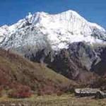 Vulcões acima e ao lado, imagens de montanhas da Cordilheira do Himalaia (Foto: divulgação)