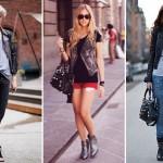 As tachas são aplicadas nas jaquetas e bolsas e conferem um visual descolado.