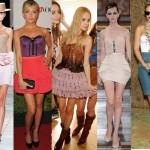 A combinaçao de corselet e saia resulta num visual semelhante ao vestido.