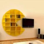 Estante criativa perfeita para sala de recreação (Foto: divulgação)