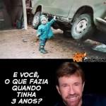Chuck Norris com 3 anos (Foto: divulgação)