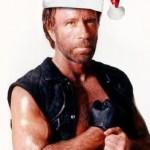 Chuck Norris com toca de Papai Noel (Foto: divulgação)