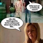 Carminha dialogando com seriado Chaves. (Foto:Divulgação)