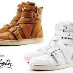 Sneakers vintage, com cadarços e amarras.