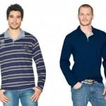 As camisas polo de mangas longas são excelentes opções para serem usadas no inverno.