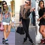 Os wedge sneakears se tornaram sucesso absoluto depois de serem vistos nos pés das famosas de todo o mundo (Foto: Divulgação)