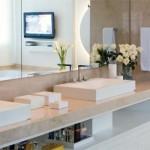 A pia do banheiro precisa combinar com os demais elementos da decoração. (Foto:Divulgação)
