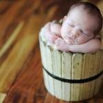 Bebê dormindo na tina (Foto: divulgação)