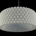 Luminária de bolinhas de Ping-Pong (Foto: divulgação)