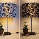 Luminárias com sacolas plásticas (Foto: divulgação)