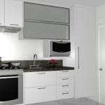 Armário planejado compacto para uma cozinha pequeno. (Foto:Divulgação)