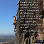 Eu aprendi que a coragem não é a ausência do medo...(Foto: divulgação)