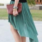 A saia mullet é normalmente confeccionada com tecidos leves. (Foto:Divulgação)