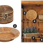 Existem vários elementos decorativos confeccionados a partir de fibras naturais. (Foto: divulgação)