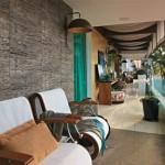 O uso de fibras no revestimento de paredes é uma boa opção. (Foto: divulgação)
