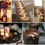 Enfeites rústicos para a iluminação do casamento. (Foto:Divulgação)