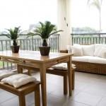 Terraço moderno e mobiliado. (Foto:Divulgação)