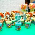 Potinhos de vidro com doces. (Foto:Divulgação)