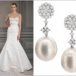 Os acessórios na cor do vestido são os mais indicados para as noivas (Foto: divulgação).